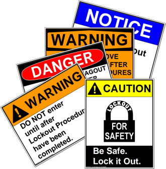 Lockout/Tagout Safety Signs