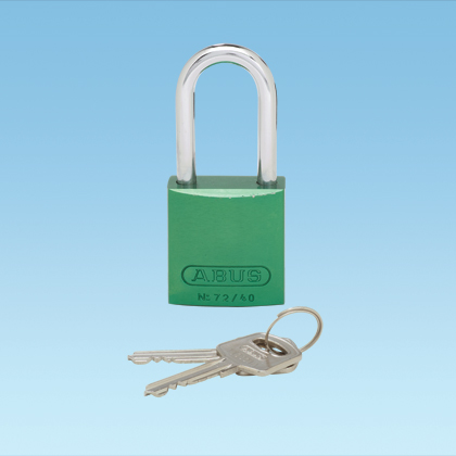 Anodized Aluminum Padlock - Long Shackle Green