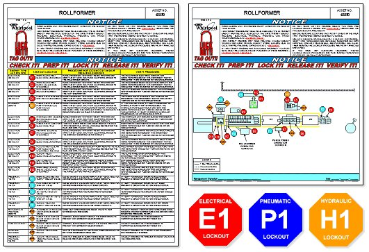 Custom Procedures - Typical Whirlpool Lockout/Tagout Placard and Tags
