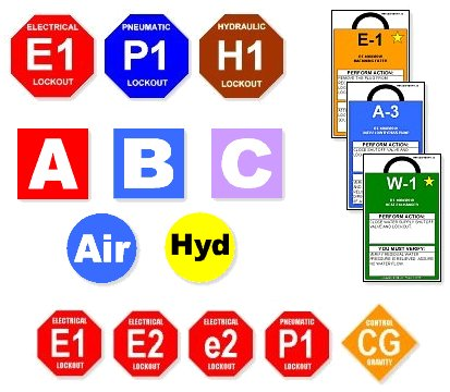 Energy Control Tags - Various Custom Formats