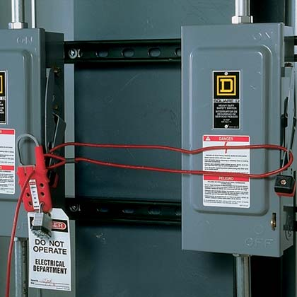 Multiple Lockout Device - Typical Electrical Disconnect Lockout/Tagout
