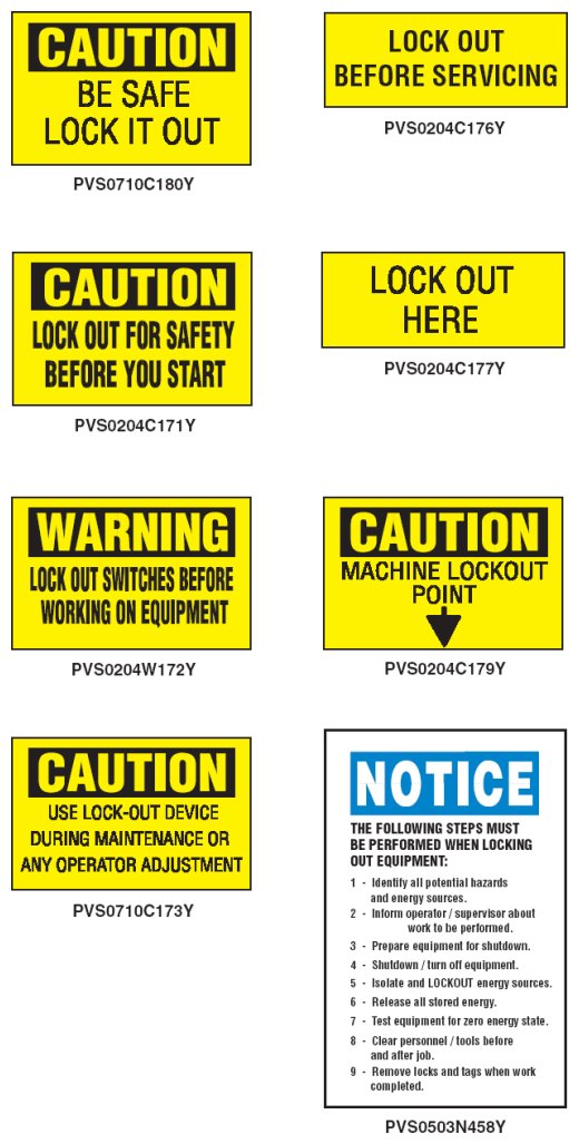 Self Adhesive Vinyl Safety Labels - PVS Series