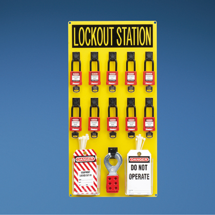 Typical 10-person Lockout Station with Components