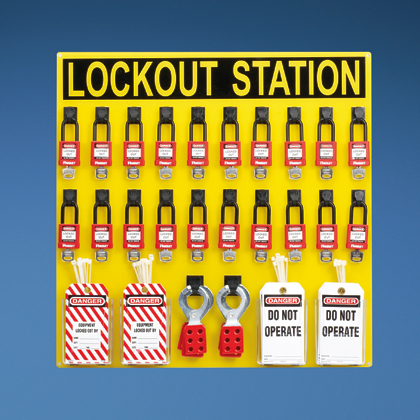 Typical 20-person Lockout Station with Components