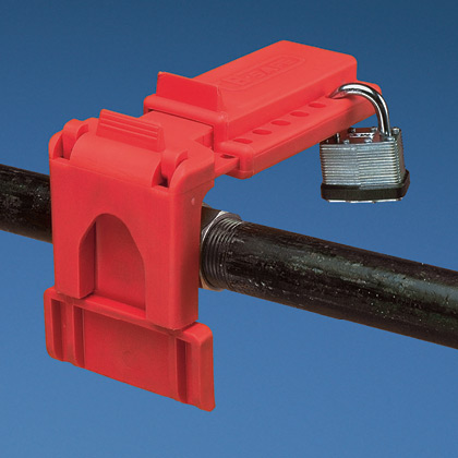 Typical Ball Valve Lockout Device