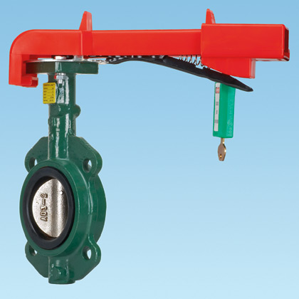 Typical Butterfly Valve Lockout Device