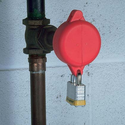 Typical Gate Valve Lockout Device