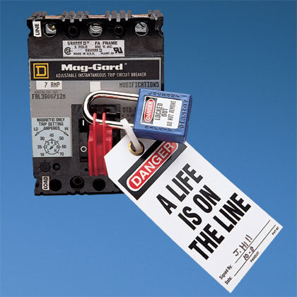 Typical I-Line Circuit Breaker Lockout Device