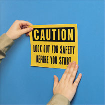 Typical Self Adhesive Polyester Safety Signs
