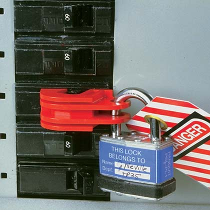 Typical Universal Circuit Breaker Lockout Device