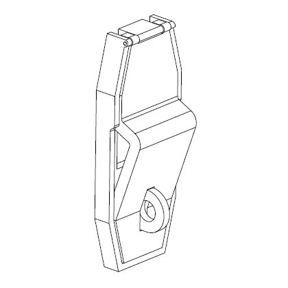 Universal Toggle and Rocker Switch Lockout Device - 3D CAD Closed View